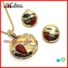 TB0883 Jingmei High Quality Rhinestone Pendant Set