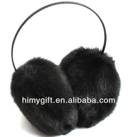winter super soft black earmuffs for women