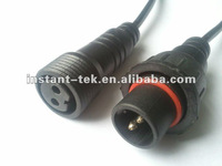 2 pins M18 auto electrical waterproof connector