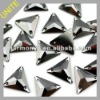Jet Hematite Triangle Sew on Glass Stones U3270