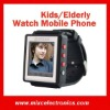 Unlocked GSM Watch Mobile Phone Emergency Fast Dail for Senior/Kids