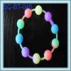 2012 cute soft bead necklace with rubber necklace