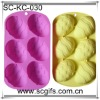 Silicone cake bakeware with silicone jelly cake moulds