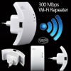 White Wireless WIFI Repeater Network LAN Router Range Extender 300Mbps