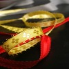 the newest design and pattern Jacquard ribbon for X'mas decoration