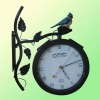outdoor metal garden clocks with solar light