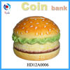 Ceramic Coin Bank in the shape of hamburger