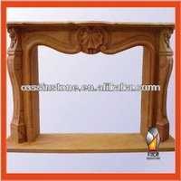 Carved Marble or Granite Fireplace Mantel With Hearths From China Factory