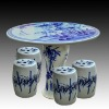 blue and white bamboo ceramic garden stool table set RYAY267