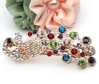 mix color crystal hair jewelry for wedding