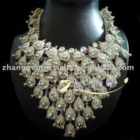 fashion large rhinestone bridal jewelry set