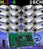 "16pcs Sony 1/3"" CCD 420TVL camera surveillance system"