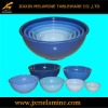 6pcs melamine tableware mixing bowl set
