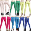100% Polyester Fashion Lady Red Skinny Multi Colored Jeans (AW08)