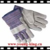 Pig leather on Palm glove/leather safety glove/pig grain, index finger/full jersey lining/full fleece lining/full fleece lining