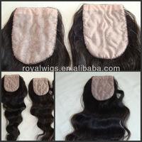 Cheap brazilian hair top silk base closures