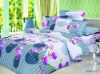 100% cotton, reactive printing, 4pcs pigment printed bedding set