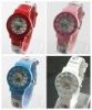 2013 Small orders wholesale adjustable silicone watch Hello kitty watch set
