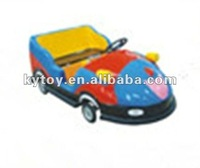 small colorful cartoon bumper car with 2 seats