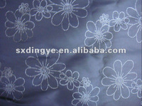 flower design embroidery on polyester fabric