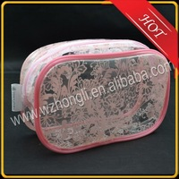 PVC zipper travel small cosmetic pouch