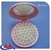 small plastic fold round travel hair brush and mirror