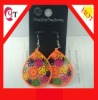 cheap 2012 fashion wood earring with thread details in various color and design
