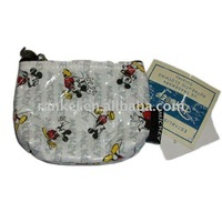 white mickey flat screen printing small purse