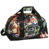polyester camo weekend travel duffel bag with shoe compartment