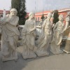 Four season white marble statues