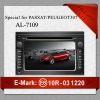 SUPPLY HOT NEW CAR AUDIO MP3 PLAYER WITH WONDERFUL BLUETOOTH CAR AUDIO FOR PASSAT /PEUGEOT307 AL-7109