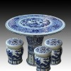 antique blue and white ceramic garden stool table set RYAY272