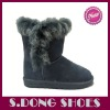 New women fashion boots with rabbit fur 2012