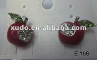 IN STOCK!!!2012 fashion hot sell long rhinestone earrings for women