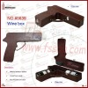 special gun shaped leather wine box for 2 wine bottles