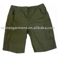 Plain Bermuda Cotton Pants