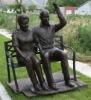 Couple grandparents bronze figure sculpture