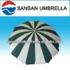Green and white color fiber beach umbrella