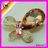 Broch jewelry with Zircon , magnet clip for scarf, scarf ring clip