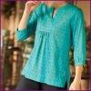 Women Loose Dot Block Print Tunic, Plus Size XXXL Clothing
