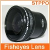 55mm 0.25x Camera Fisheye Wide Angle Lens With Marco