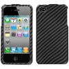 Snap-On Protective Hard Case and Screen Protector for iPhone 4 (Carbon Fiber 2D)