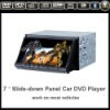 2 din 7 inch HD touch screen slide down panel car dvd player gps bluetooth