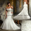Sweetheart heavy beaded mermaid embroidery custom-made plus size wedding dresses CWFaw4871
