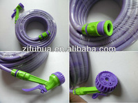PVC garden water hose with nozzle from factory