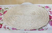 Modern design cute hand-woven round straw wheat mat&cushion