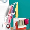 Plastic magnetic clothes drying rack