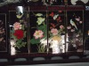 handmade wooden folding screen ( wood painting , folk artwork , woodcut )
