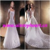 White Fashion Embroidery wedding dresses W114