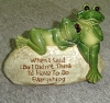 porcelain frogs on stone for Garden decoration